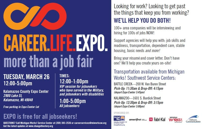 Career Life Expo to Offer Jobs, Support Services – United Way of the